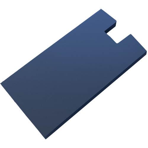 Daszek płaski z wycięciem na słupek 65mm